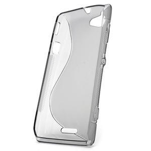 Gelové S-line pouzdro na Sony Xperia L C2105- šedé - 2