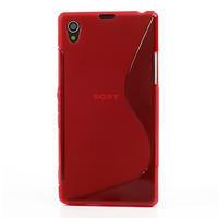Gelové S-line pouzdro na Sony Xperia Z1 C6903 L39- červené - 2/5