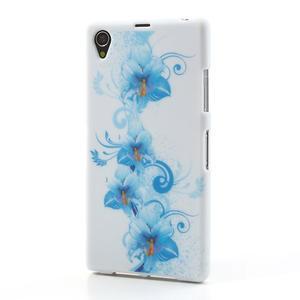 Gelové pouzdro na Sony Xperia Z1 C6903 L39- modrá lilie - 2