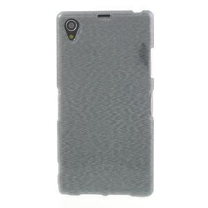 Kartáčované pouzdro na Sony Xperia Z1 C6903 L39- šedé - 2