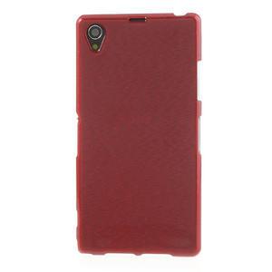 Kartáčované pouzdro na Sony Xperia Z1 C6903 L39- červené - 2