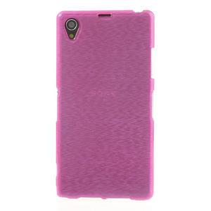 Kartáčované pouzdro na Sony Xperia Z1 C6903 L39- růžové - 2