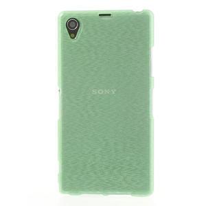 Kartáčované pouzdro na Sony Xperia Z1 C6903 L39- zelenmodré - 2