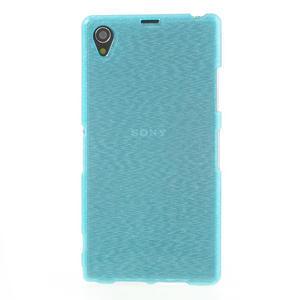 Kartáčované pouzdro na Sony Xperia Z1 C6903 L39- modré - 2