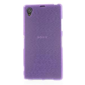 Kartáčované pouzdro na Sony Xperia Z1 C6903 L39- fialové - 2