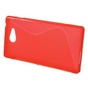 Gelové S-line pouzdro na Sony Xperia M2 D2302- červené - 2