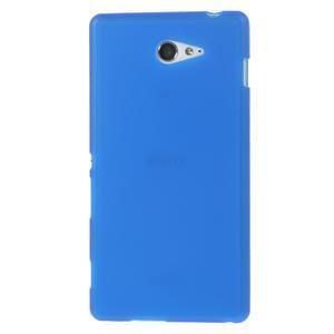 Gelové tenké pouzdro na Sony Xperia M2 D2302 - modré - 2