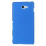 Gelové tenké pouzdro na Sony Xperia M2 D2302 - modré - 2/5