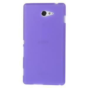 Gelové tenké pouzdro na Sony Xperia M2 D2302 - fialové - 2