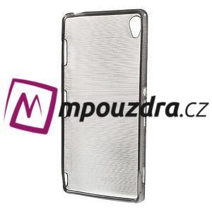 Gelové kartáčové pouzdro na Sony Xperia Z3 D6603 - šedé - 2