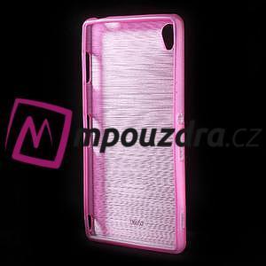 Gelové kartáčové pouzdro na Sony Xperia Z3 D6603 - růžové - 2