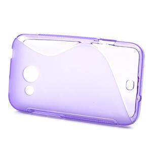 Gelové S-line pouzdro pro HTC Desire 200- fialové - 2