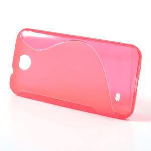 Gelové S-line pouzdro pro HTC Desire 300 Zara mini- růžové - 2