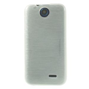 Gelové kartáčované pouzdro na HTC Desire 310- bílé - 2