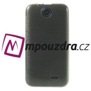 Gelové kartáčované pouzdro na HTC Desire 310- šedé - 2