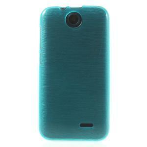 Gelové kartáčované pouzdro na HTC Desire 310- modré - 2