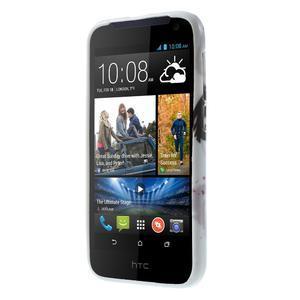 Gelové pouzdro na HTC Desire 310- fialový květ - 2