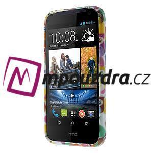 Gelové pouzdro na HTC Desire 310- barevné sovy - 2