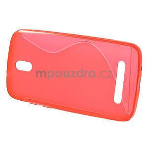 Gelové pouzdro pro HTC Desire 500- červené - 2