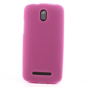 Gelové matné pouzdro pro HTC Desire 500- růžové - 2