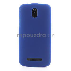 Gelové matné pouzdro pro HTC Desire 500- modré - 2