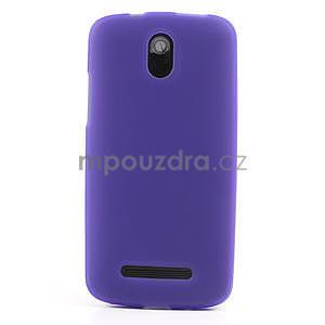 Gelové matné pouzdro pro HTC Desire 500- fialové - 2