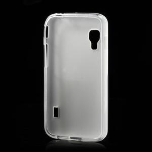 Matné gelové pouzdro pro LG Optimus L5 Dual E455- bílé - 2