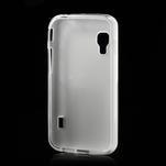 Matné gelové pouzdro pro LG Optimus L5 Dual E455- bílé - 2/4