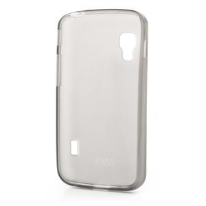 Matné gelové pouzdro pro LG Optimus L5 Dual E455- šedé - 2