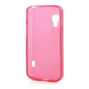 Matné gelové pouzdro pro LG Optimus L5 Dual E455- červené - 2