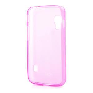 Matné gelové pouzdro pro LG Optimus L5 Dual E455- růžové - 2