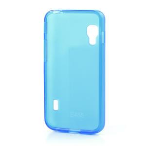 Matné gelové pouzdro pro LG Optimus L5 Dual E455- modré - 2