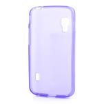 Matné gelové pouzdro pro LG Optimus L5 Dual E455-fialová - 2/4