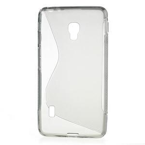 Gelové S-line pouzdro na LG Optimus F6 D505- šedé - 2