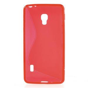 Gelové S-line pouzdro na LG Optimus F6 D505- červené - 2