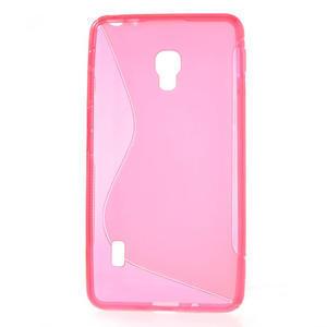 Gelové S-line pouzdro na LG Optimus F6 D505- růžové - 2
