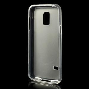 Gelové matné pouzdro na Samsung Galaxy S5 mini G-800- transparentní - 2