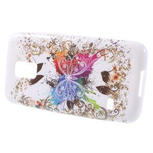 Gelové pouzdro na Samsung Galaxy S5 mini G-800- barevný motýl - 2