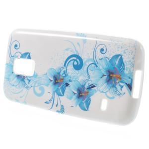 Gelové pouzdro na Samsung Galaxy S5 mini G-800- modrá lilie - 2
