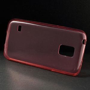 Gelové 0.6mm pouzdro na Samsung Galaxy S5 mini G-800- červené - 2