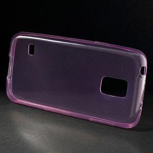 Gelové 0.6mm pouzdro na Samsung Galaxy S5 mini G-800- růžové - 2