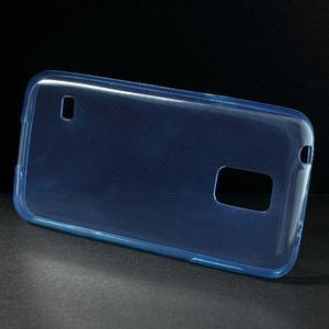 Gelové 0.6mm pouzdro na Samsung Galaxy S5 mini G-800- modré - 2
