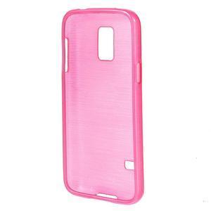 Kartáčové pouzdro na Samsung Galaxy S5 mini G-800- růžové - 2