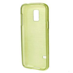 Kartáčové pouzdro na Samsung Galaxy S5 mini G-800- zelené - 2