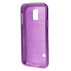 Kartáčové pouzdro na Samsung Galaxy S5 mini G-800- fialové - 2