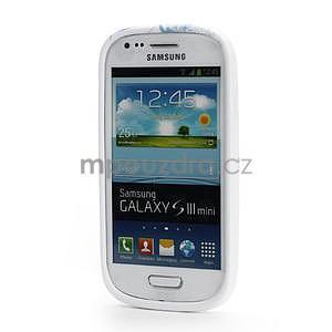 Bílé gelové pouzdro pro Samsung Galaxy S3 mini / i8190 - vzor Lily - 2