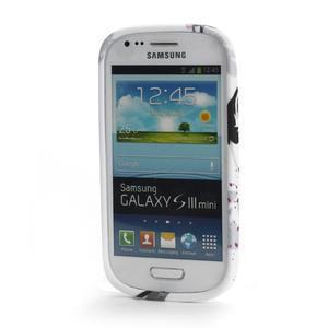 Gelové pouzdro na Samsung Galaxy S3 mini i8190- fialový květ - 2