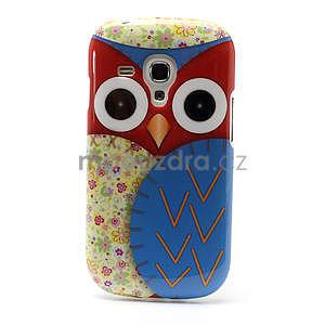 Gelové pouzdro pro Samsung Galaxy S3 mini / i8190 - modrá Sova - 2