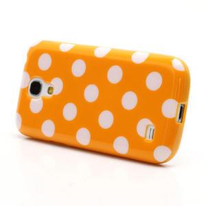 Gelový Puntík pro Samsung Galaxy S4 mini i9190- oranžové - 2