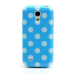 Gelový Puntík pro Samsung Galaxy S4 mini i9190- modrá - 2